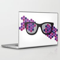 glasses Laptop & iPad Skins featuring Glasses by Laura Stiner