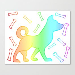 Rainbow dog Canvas Print