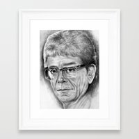 lou reed Framed Art Prints featuring Lou Reed by Rob Delves