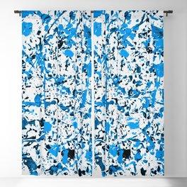 Black & Blue Blackout Curtain