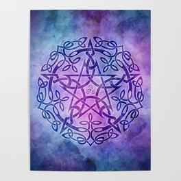 Mystic Purple Celtic Pentacle Pentagram Poster