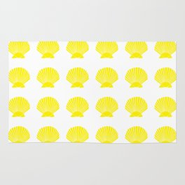Yellow Seashell Rug