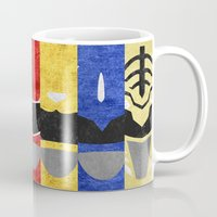 power rangers Mugs featuring Mighty Morphin Power Rangers by Some_Designs