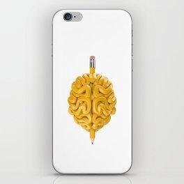 Pencil Brain iPhone Skin