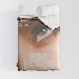 Pulp Fiction, Quentin Tarantino, alternative movie poster, Uma Thurman, Mia Wallace Comforters