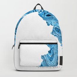 Illinois - State Map Art - Abstract Map - Blue Backpack