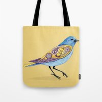 paisley Tote Bags featuring Paisley by Hannah Spiegleman
