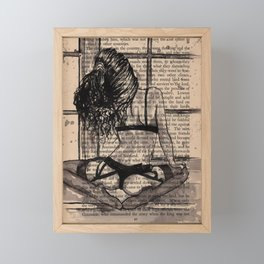 Rain time Framed Mini Art Print