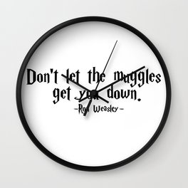 Ron Weasley - Muggles quote - HarryPotter Wall Clock