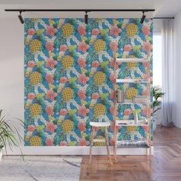 Pineapple Half Drop Wall Mural