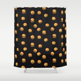 Fun Hamburger Party Pattern Shower Curtain