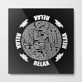 Meditation Yoga Design Metal Print