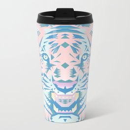 Pastel Quartz Tiger Metal Travel Mug