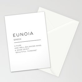 Eunoia Definition Stationery Cards