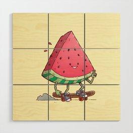 Watermelon Slice Skater Wood Wall Art