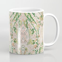Green Pink Leaf Flower Paisley Coffee Mug