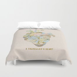 A Traveller's Heart (UK) Duvet Cover
