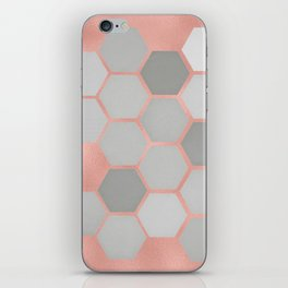 Honeycomb on Rose Gold iPhone Skin