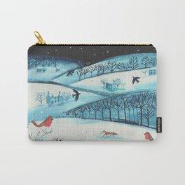 Indigo Winter Carry-All Pouch