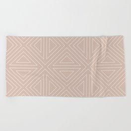 Angled Nude Beach Towel