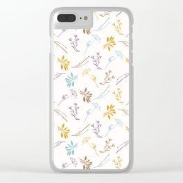 Sacred Dried Herb Bunches Clear iPhone Case