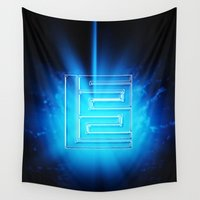 logo Wall Tapestries featuring Logo Design by Azeez Olayinka Gloriousclick