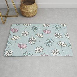 Cute Floral Ditsy Pattern Rug