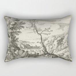 Landscape With Judah And Tamar Willem van Nieulandt II Rectangular Pillow