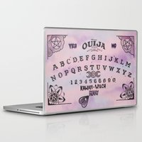 ouija Laptop & iPad Skins featuring Pastel Goth Ouija Board by zombi_meow