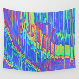 Iridescent Cosmic Rays Pop Art Wall Tapestry