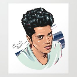 BrunoMars Portrait Art Print