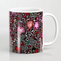 sci fi Mugs featuring Sci-Fi Fantasy Cosmos by MehrFarbeimLeben