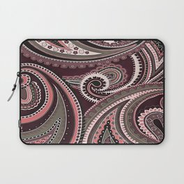 Playing With Paisley Patterns Aubergine Tones Laptop Sleeve