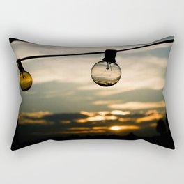 Unlit Sunset.  Rectangular Pillow