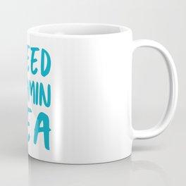 I Need Vitamin Sea - Blue and White Coffee Mug
