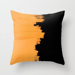 Orange impact Throw Pillow