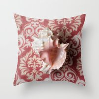 shell Throw Pillows featuring Shell by Elliott's Location Photography