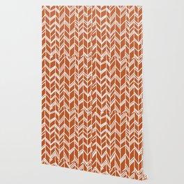 Tribal Arrow Pattern - terracotta Background Wallpaper