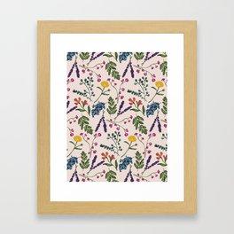 Botanical Pattern Light Peach Framed Art Print