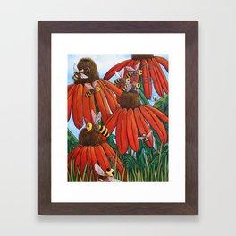 Bee Happy by DeeDee Draz Framed Art Print