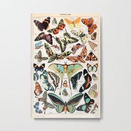 Adolphe Millot - Papillons pour tous - French vintage poster Metal Print