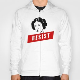 Princess Leia RESIST Star War black white red join the resistance Hoody