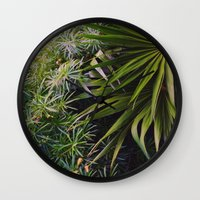 wild things Wall Clocks featuring Wild Things by Tina Crespo