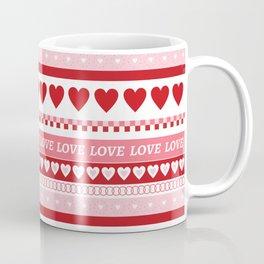 Valentine's Day - Love Pattern Coffee Mug