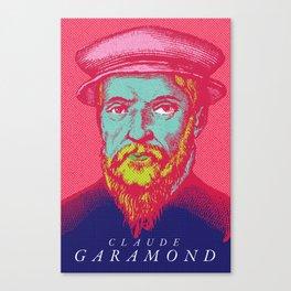 Claude Garamond Canvas Print
