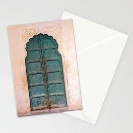 Antique door in India - Teal door, peach wall Stationery Cards