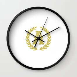 Mustard Yellow Monogram: Letter A Wall Clock
