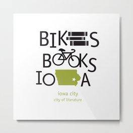 Bikes Books Iowa Metal Print