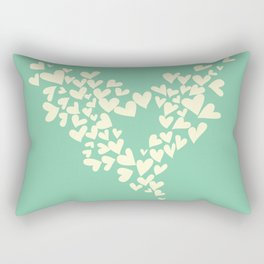 Heart In Hearts. Clouds in the hearts Rectangular Pillow
