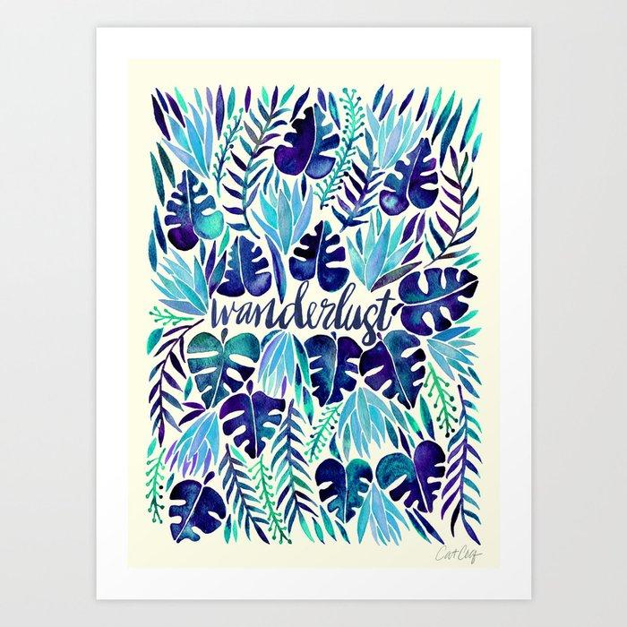 Tropical Wanderlust – Blue Kunstdrucke